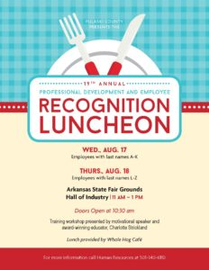 Professional Development and Employee Recognition Luncheon ...