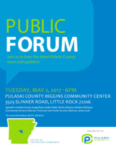 Higgins Community Public Forum @ Higgins Community Center | Little Rock | Arkansas | United States