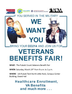 Veterans Benefits Fair @ UA-Pulaski Tech | North Little Rock | Arkansas | United States