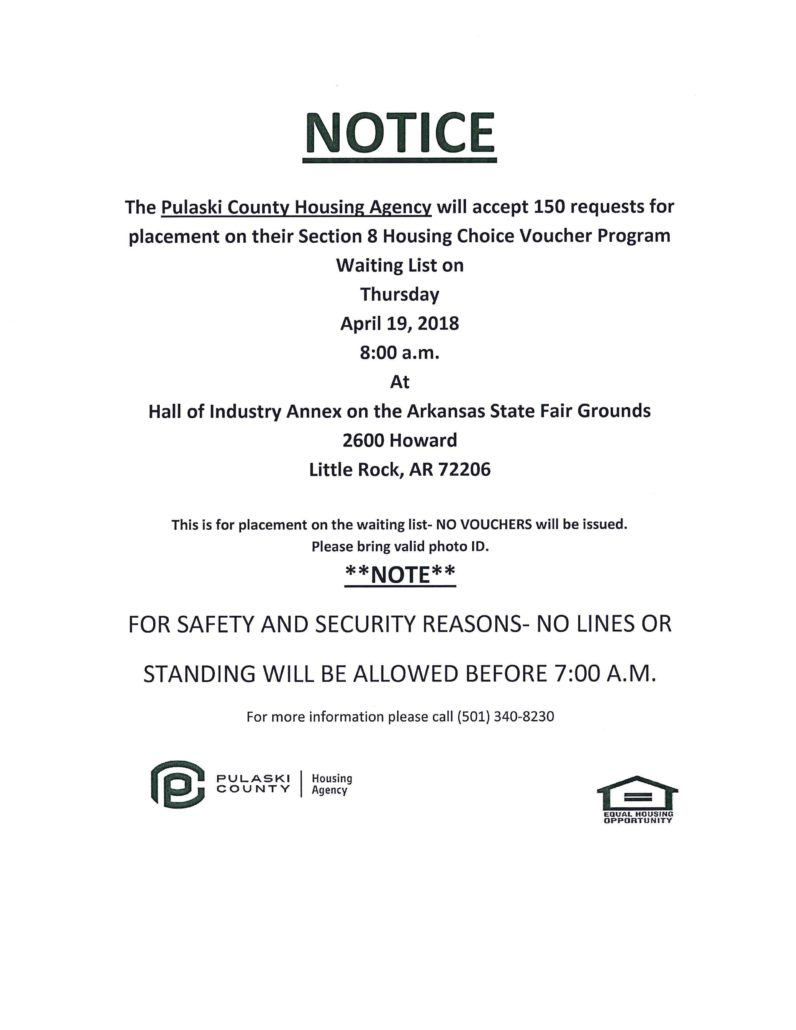 Pulaski County Housing Agency Notice - Pulaski County