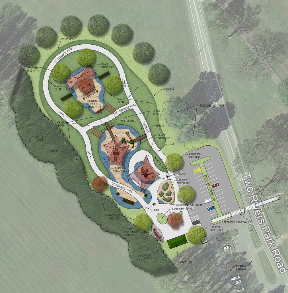 Rendering of inclusive park